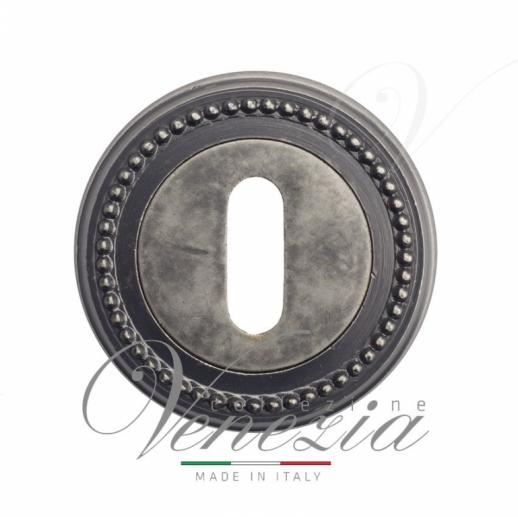 Накладка дверная под ключ буратино Venezia KEY-1 D3 античное серебро