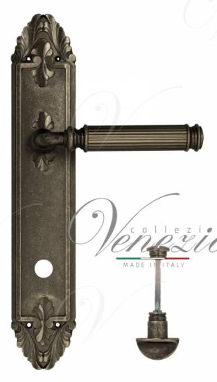 """Дверная ручка Venezia """"MOSCA"""" WC-2 на планке PL90 античное серебро"""