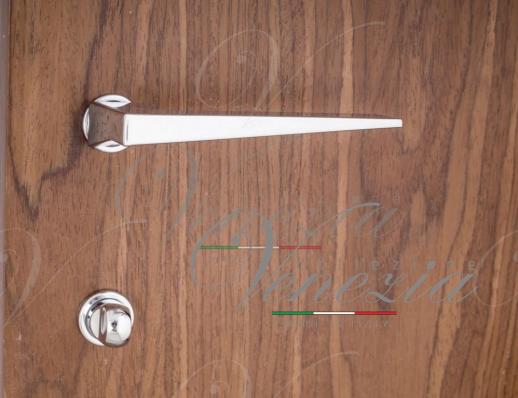 """Дверная ручка Venezia Unique """"PHILIP"""" (серия SLIM) полированный хром"""
