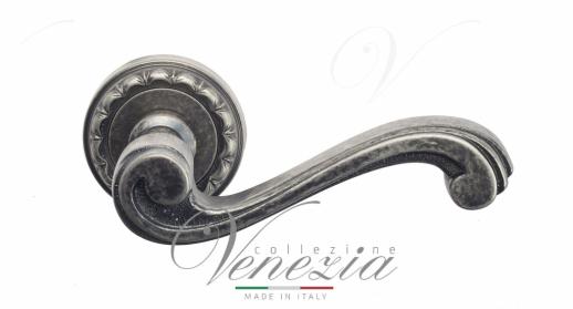 Дверная ручка Venezia VIVALDI D2 античное серебро