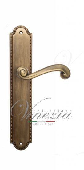 Дверная ручка Venezia Carnevale WC-2 на планке PL98 матовая бронза