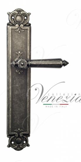 Дверная ручка Venezia Castello на планке PL97 античное серебро