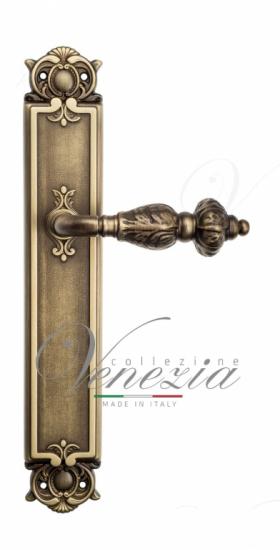 Дверная ручка Venezia Lucrecia WC-2 на планке PL97 матовая бронза