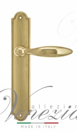 Дверная ручка Venezia MAGGIORE на планке PL98 полированная латунь