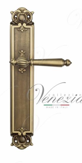 Дверная ручка Venezia PELLESTRINA на планке PL97 матовая бронза