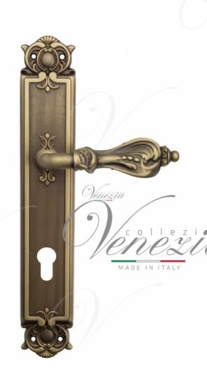 "Дверная ручка Venezia ""FLORENCE"" CYL на планке PL97Матовая бронза"