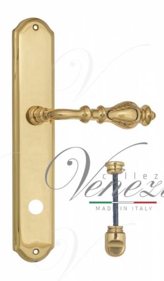 """Дверная ручка Venezia """"GIFESTION"""" WC-1 на планке PL02 полированная латунь"""