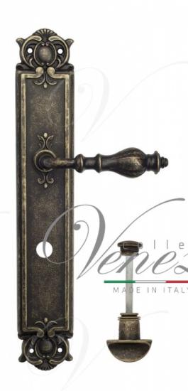 "Дверная ручка Venezia ""GIFESTION"" WC-2 на планке PL97 античная бронза"