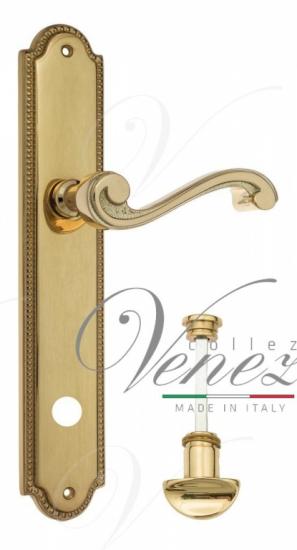 """Дверная ручка Venezia """"VIVALDI"""" WC-2 на планке PL98 полированная латунь"""