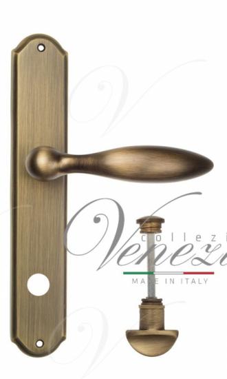 """Дверная ручка Venezia """"MAGGIORE"""" WC-1 на планке PL02Матовая бронза"""