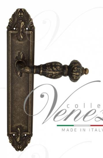"Дверная ручка Venezia ""LUCRECIA"" на планке PL90 античная бронза"
