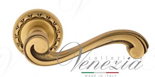 """Дверная ручка Venezia """"VIVALDI"""" D2 французское золото + коричневый"""