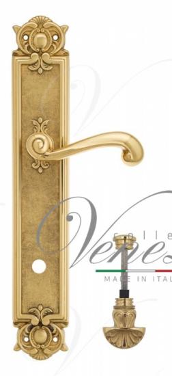 """Дверная ручка Venezia """"CARNEVALE"""" WC-4 на планке PL97 полированная латунь"""