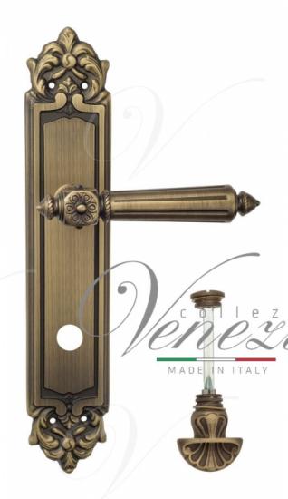 """Дверная ручка Venezia """"CASTELLO"""" WC-4 на планке PL96 матовая бронза"""