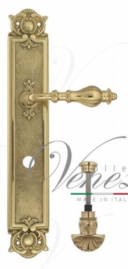 """Дверная ручка Venezia """"GIFESTION"""" WC-4 на планке PL97 полированная латунь"""