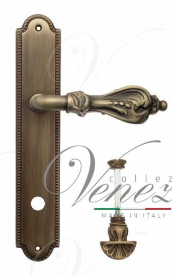 "Дверная ручка Venezia ""FLORENCE"" WC-4 на планке PL98 матовая бронза"