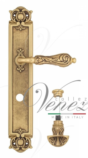 "Дверная ручка Venezia ""MONTE CRISTO"" WC-4 на планке PL97 полированная латунь"