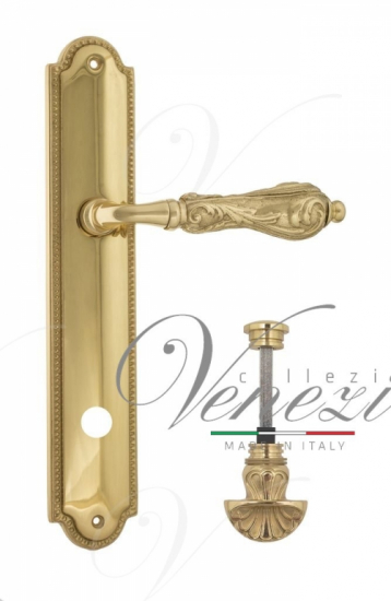 "Дверная ручка Venezia ""MONTE CRISTO"" WC-4 на планке PL98 полированная латунь"