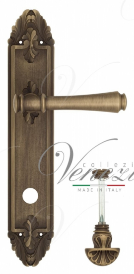 """Дверная ручка Venezia """"CALLISTO"""" WC-4 на планке PL90 матовая бронза"""