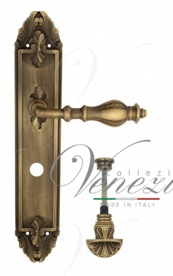 "Дверная ручка Venezia ""GIFESTION"" WC-4 на планке PL90Матовая бронза"