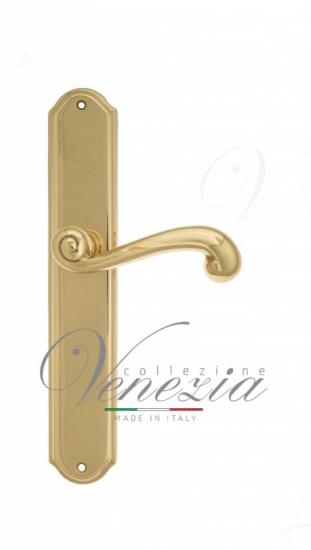 Дверная ручка Venezia Carnevale на планке PL02 полированная латунь