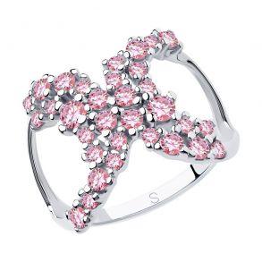 Кольцо из серебра с фианитами 94013038 SOKOLOV