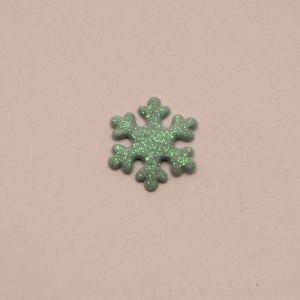 """Патч """"Снежинка"""", 22 мм, цвет бирюзовый (1уп = 25шт)"""