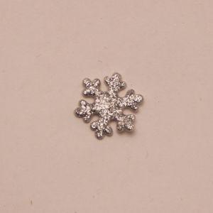 "Патч ""Снежинка"", 22 мм, цвет серебро (1уп = 25шт)"