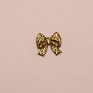 """Патч """"Бантик"""", 18*18 мм, цвет золото (1уп = 25шт)"""