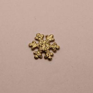 """`Патч """"Снежинка"""", 22 мм, цвет золото (1уп = 5шт)"""