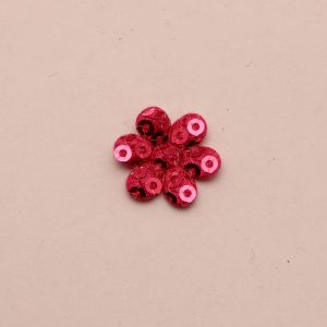 """`Патч """"Цветок"""", 25 мм, цвет розовый (1уп = 5шт), Арт. Р-ДЭ0052-2"""