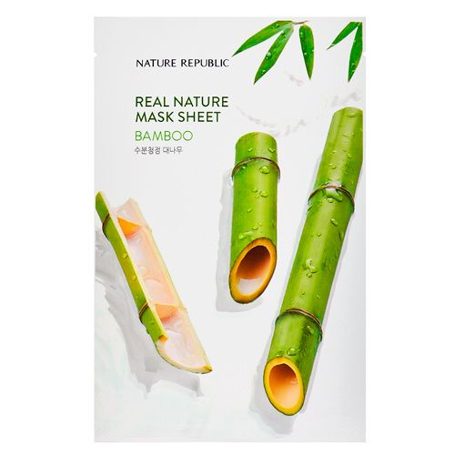 Маска для лица листовая с экстрактом бамбука Nature Republic (Нейчер Репаблик) 23 г