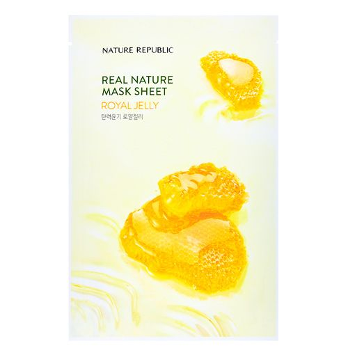 Маска для лица листовая с маточным молочком Nature Republic (Нейчер Репаблик) 23 г