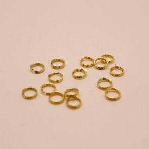 Кольцо пружинка 0,5*6мм, цвет: золото (1уп = 100шт)