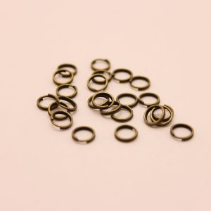Кольцо пружинка 0,5*6мм, цвет: бронза (1уп = 100шт)