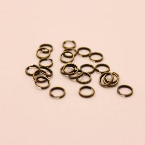 `Кольцо пружинка 0,5*6мм, цвет: бронза (1уп = 100шт)