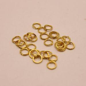 `Кольцо соединительное 0,7*5мм, цвет: золото (1уп = 10шт)
