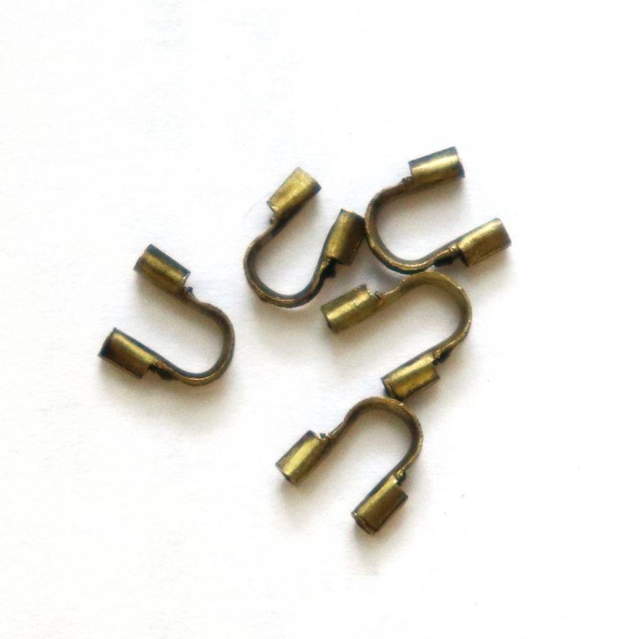 Протектор для ювелирного тросика , цвет бронза, 10 шт/упак
