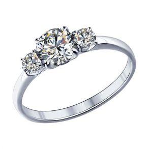 Помолвочное кольцо из серебра с фианитами 89010008 SOKOLOV