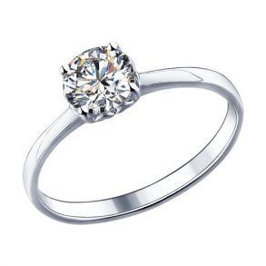 Кольцо из серебра с фианитом 89010011 SOKOLOV