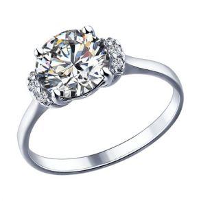 Кольцо из серебра с фианитами 89010018 SOKOLOV