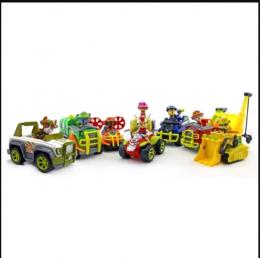 Большой набор из 8-и спасателей с машинками, серии джунгли (Гонщик, Скай, Крепыш, Зума, Маршал, Роки, Райдер, трекер) (Щенячий патруль)