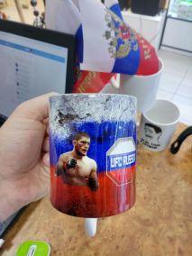 Кружка UFC Россия с фото Хабиб Нурмагомедов