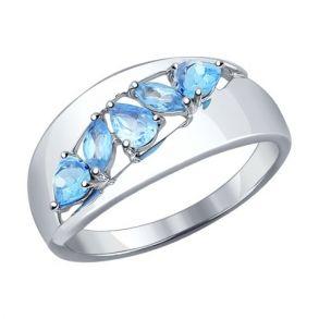 Кольцо из серебра с топазами 92011100 SOKOLOV