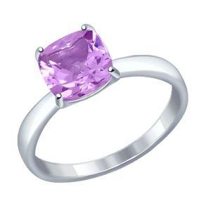 Кольцо из серебра с аметистом 92011255 SOKOLOV