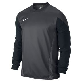 Детская толстовка Nike Squad 14 Shell Top Longsleeve Junior тёмно-серая