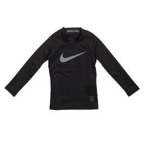 Детская термокофта Nike Pro Warm Mock с длинным рукавом чёрная
