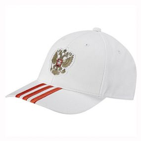 Бейсболка adidas Russian Football Union 3 Stripes Cap белая
