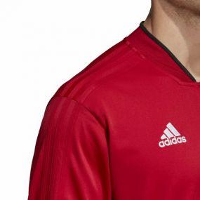 Кофта полиэстеровая adidas Condivo 18 красная