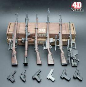 Набор сборных моделей оружия 6 штук масштаб 1:6